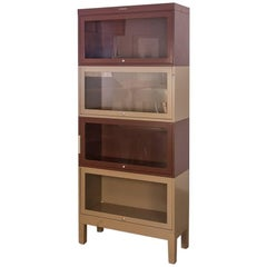 Two-Tone Tall Metal Barrister Bookcases