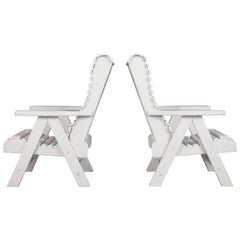 Pair of Nautical Outdoor Lounge Chairs