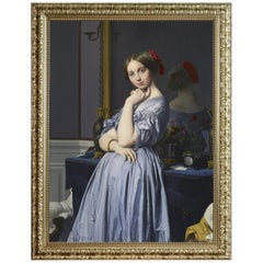 Comtesse d'Haussonville, after Neoclassical Oil Painting by Artist Jean Ingres