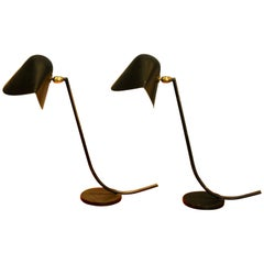 Rare Pair of Original Antony Lamps, Serge Mouille, 1955