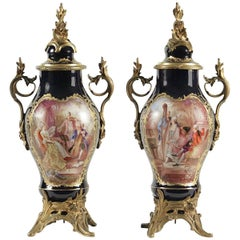 Pair of Ormolu Sevres Vases, 19th Century