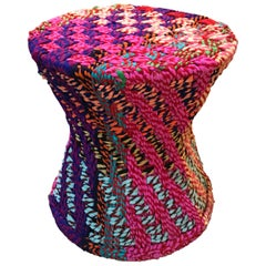 "Pr/"" It Is Not Missoni"" Sidetables or Puffs, Fabric, Super Colors,Handwoven"