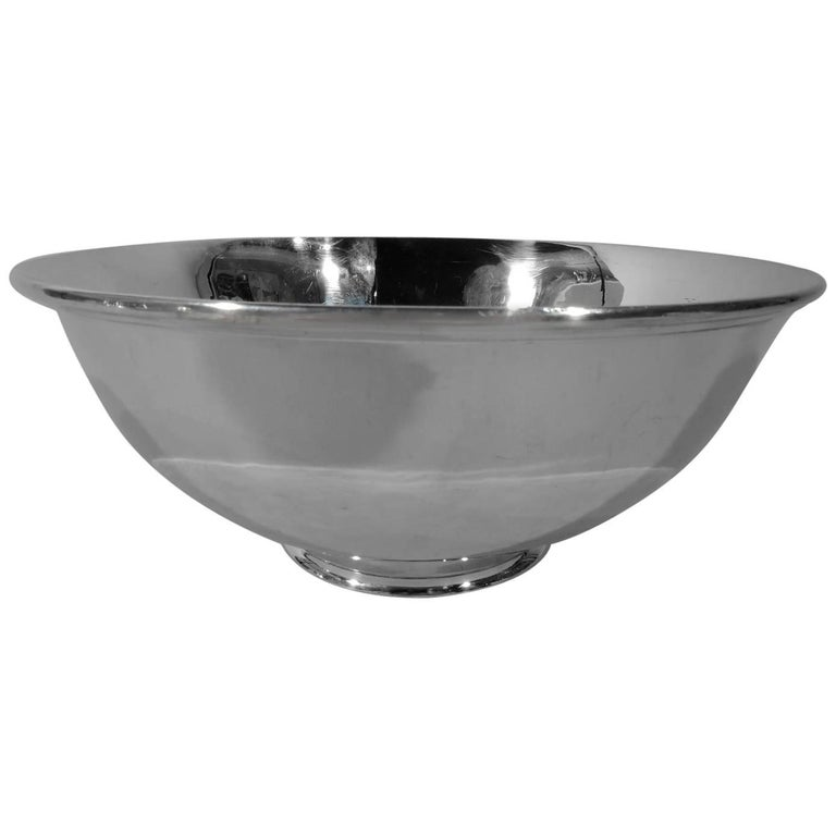 Arthur Stone Handmade Craftsman Sterling Silver Bowl