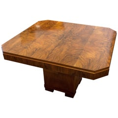 Art Deco Walnut Extending Table