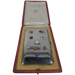 Cartier French Silver and Enamel Case for 1920s Yacht Race