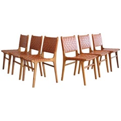 Leather Woven Chairs