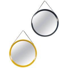 Pair of Colorful Danish Modern Circular Mirrors