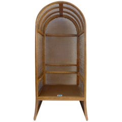 Wood and Woven Rattan Canopy Chair by Drexel