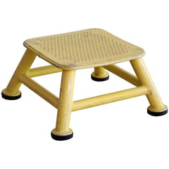 Yellow Iron Industrial Stool