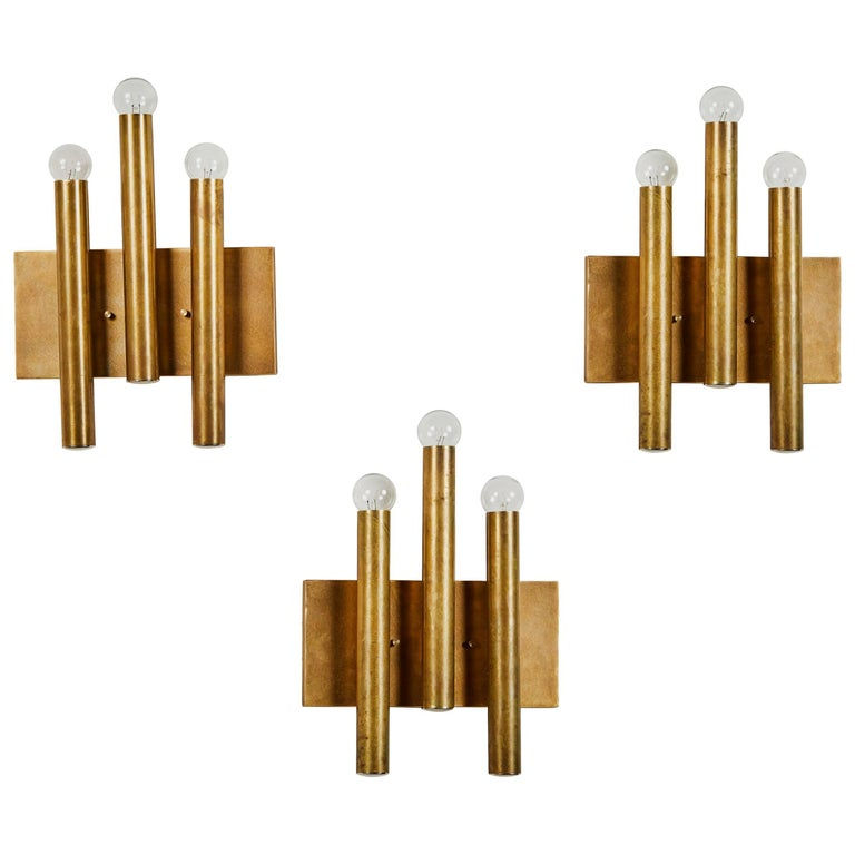 Three Italian Sconces in the Style of Gio Ponti for Candle