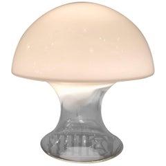 Vintage Italian Murano Vistosi Mushroom Glass Table Lamp