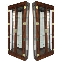 Pair of Curio Display Cabinets by Henredon