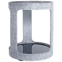 Grey Concrete Open Bar Side Table by Oso Industries