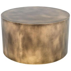 Plated Steel Brassy Boy Coffee and Side Table by Oso Industries