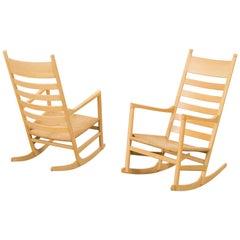 Hans Wegner Paper Cord Rocking Chair, Denmark