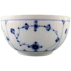 Antique Royal Copenhagen Blue Fluted Bowl, Mid-1800s
