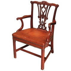Chippendale Period Mahogany Armchair