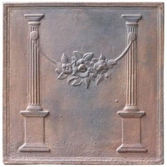 19th Century French Neoclassical 'Pillars of Freedom' Fireback