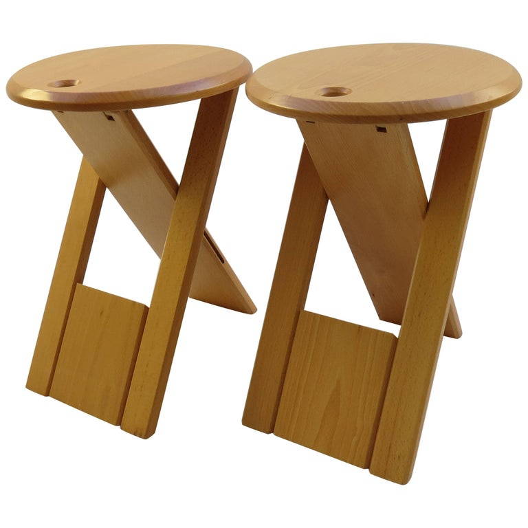 Pair of Suzy Stools, Designed 1984-1985 by Adrian Reed for Princes Design Works