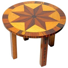 Inlay Coffee Table with Compass Rose Top, Germany, 1980s