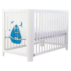Handmade Sense of Sea 5-in-1 Crib in Wood and Acrylic by MISK Nursery