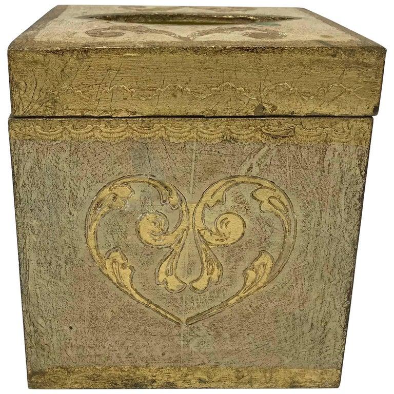 1960s Italian Florentine Tissue Box Cover