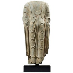 Ancient Figure of Standing Buddha, China, circa 550-577 a.D
