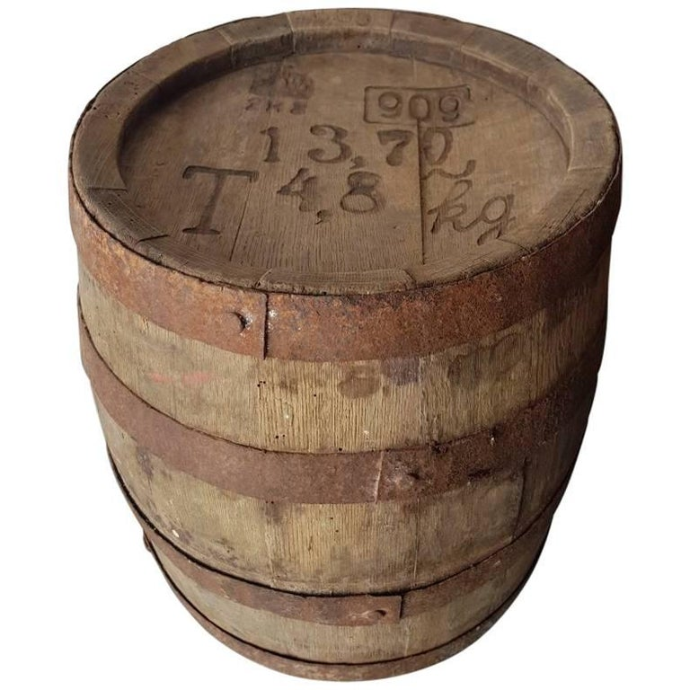 Old French Small Size Wooden Barrel for 13.7 Litre