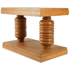 Side Table in Oak by Charles Dudouyt