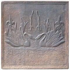 French Art Nouveau 'Swans' Fireback