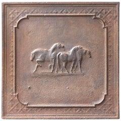 French Art Nouveau 'Horses' Fireback