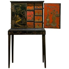 Rare Chinese Lacquer Cabinet on Stand