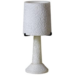 Textured Alabaster Table Lamp, France, circa 1950s