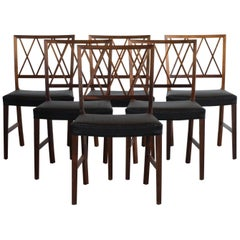 Ole Wanscher Set of Six Dinning Chairs in Rosewood for A. J. Iversen