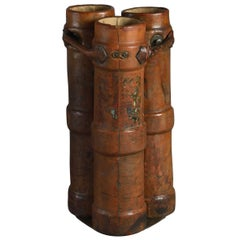 Late 19th Century Stitched Leather Army Shell Case