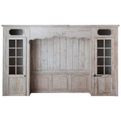 Louis XV Style Architectural Paneling with Recessed Niche and Side Closets