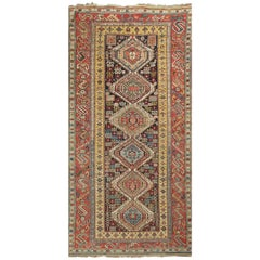 Antique Caucasian Shirvan Runner, circa 1890