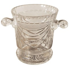 Limited Edition French Handblown and Hand-Cut Crystal Champaign Ice Bucket