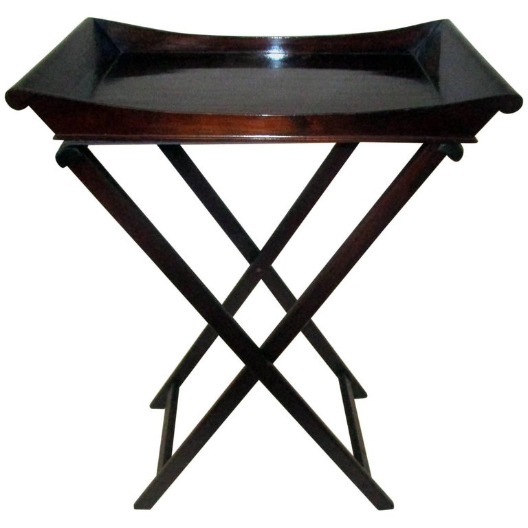 19th Century Mahogany Butler's Bar Tray on Stand
