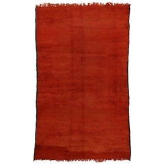 Vintage Berber Red Moroccan Rug with Tribal Style