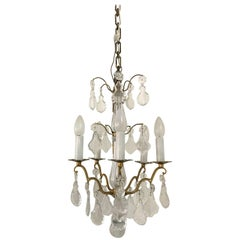 Mid-Century Modern signed Chandelier by Baccarat, France, circa 1950