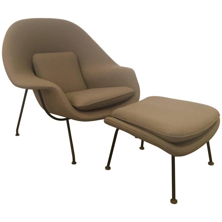 Early Eero Saarinen Womb Chair and Ottoman, 1950s