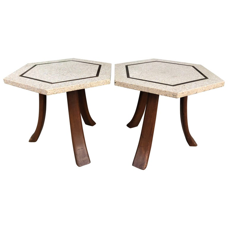 Harvey Probber Terrazzo Side Tables