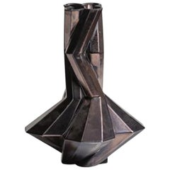 Fortress Cupola Vase in Bronze Ceramic by Lara Bohinc