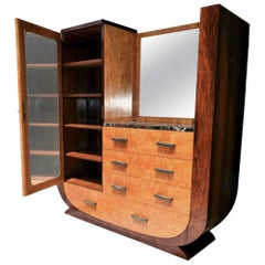 High Style 1930s Art Deco Modernist Combination Wardrobe, circa 1930