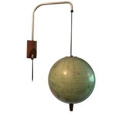 Midcentury Globe Map Lamp