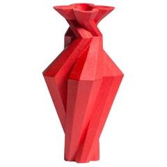 Fortress Spire Vase in Red Ceramic by Lara Bohinc