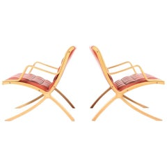 Pair of X Lounge Chair by Hvidt & Mølgaard