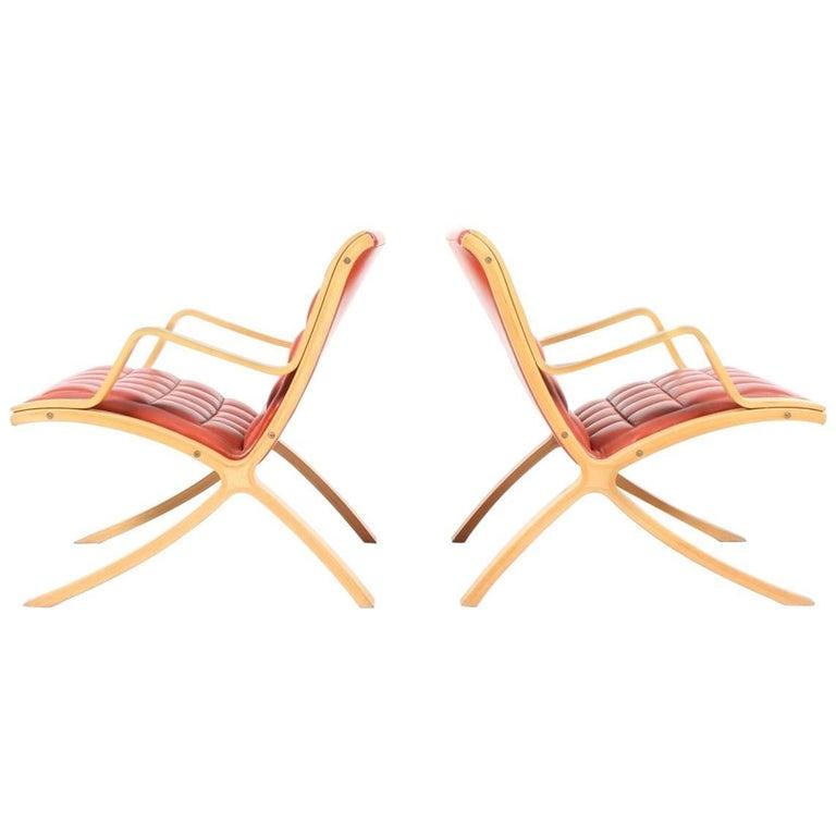 Pair of X Lounge Chair by Hvidt & Mølgaard