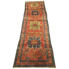 Early 20th Century Antique Persian Heriz Runner Rug